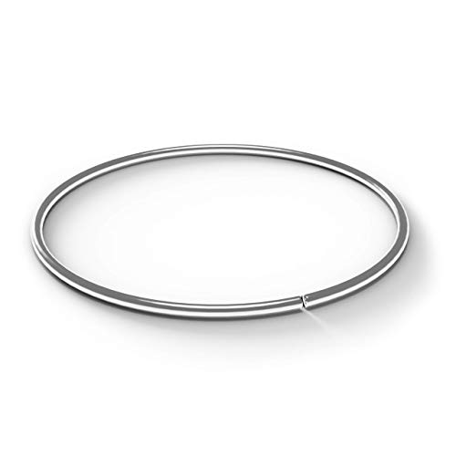 AZARIO LONDON 9K White Gold 22 Gauge - 8MM Diameter Seamless Continuous Open Hoop Nose Ring Nose Piercing