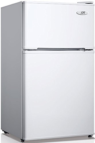 Sunpentown RF-314W 3.1 cu.ft. Double Door Refrigerator with Energy Star-White, Gray