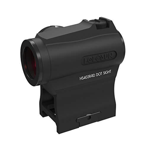 Holosun HS403R Micro Ottica di puntamento Red DOT Ottica Reflex, Nuovo quadrante reostato per Regolare Le impostazioni di luminosità, Ottica Reflex, DOT 2MOA, Slitta Picatin… - 70142129