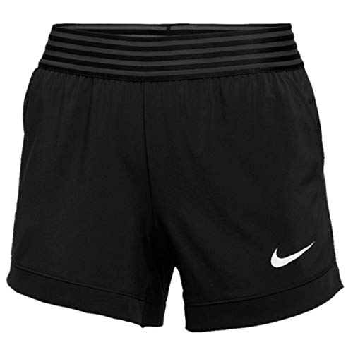 Nike Women's Flex 4in Short, Black/White, Medium