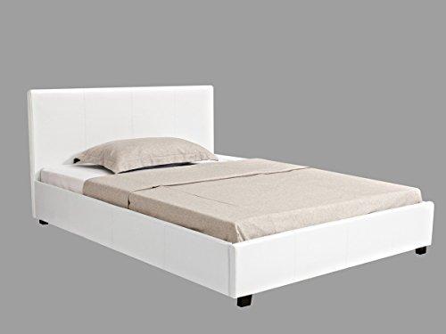Letto con contenitore CARLA - Bianco - 140 x 190 cm