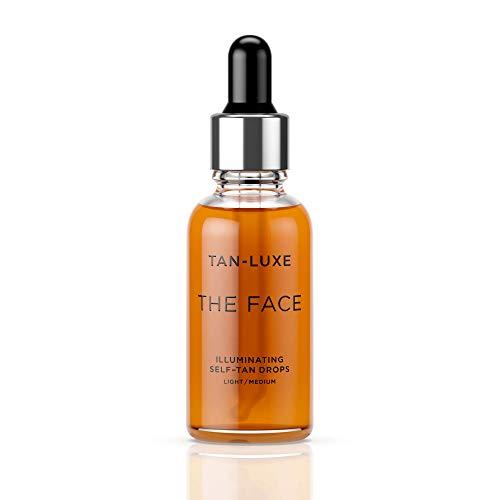 Gotas autobronceantes TAN-LUXE The Face Illuminating, iluminadoras para el rostro, Light Medium, de 30 ml