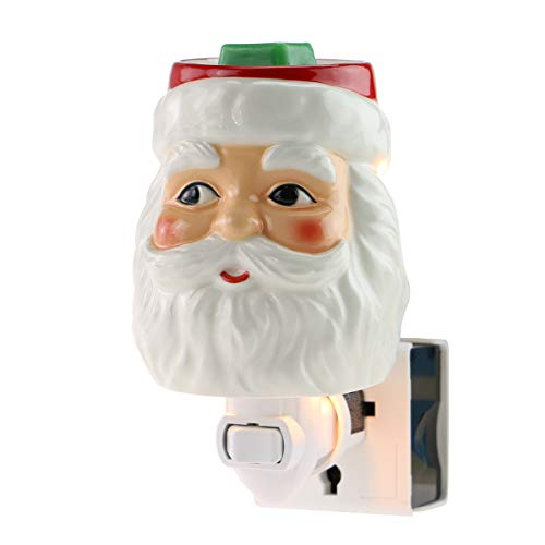 STAR MOON Wax Warmer Plug in for Home Décor, Pluggable Home Fragrance Diffuser, No Flame, with One More Bulb, Santa Claus (Look Left)