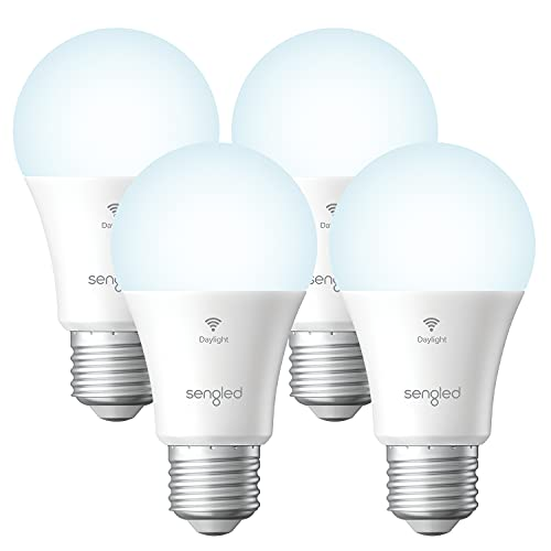 Sengled Smart Light Bulbs, Smart Bulbs That Work with Alexa and Google Home, Alexa Light Bulb No Hub Required, WiFi Light Bulbs Daylight High CRI>90, CEC Title 20,A19 E26 800LM 60W Equivalent