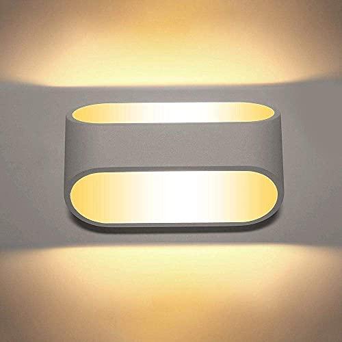 GQQ Lámpara de Pared Simple Todo Aluminio Led Dormitorio Creativo Lámpara de Noche Hotel Sala de Estar Pared Escalera Pasillo Balcón Lámpara de Ingeniería Durable