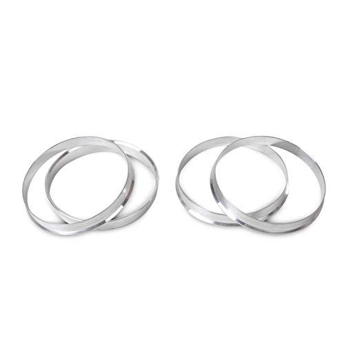 ZHANGQIN Anillos de aluminio de 4pcs de aluminio |72.6mm Hub a 74.1mm Rueda Bore |ID 72.56 |FIT DE OD 74 para BMW 1 3 4 5 7 Series X1, X3, X4, X5, X6