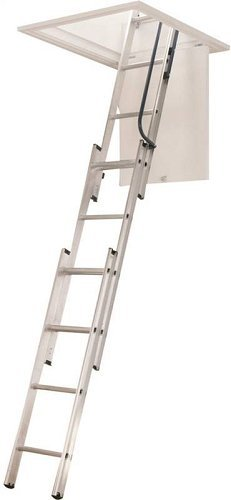 WERNER LADDER AA1510 AA1510B Ladder Aluminum Attic, 250 lb