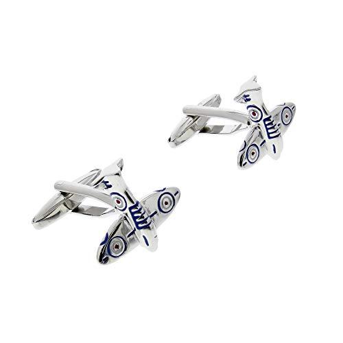 Zac's Alter Ego Spitfire Fighter Plane Cufflinks in Gift Box