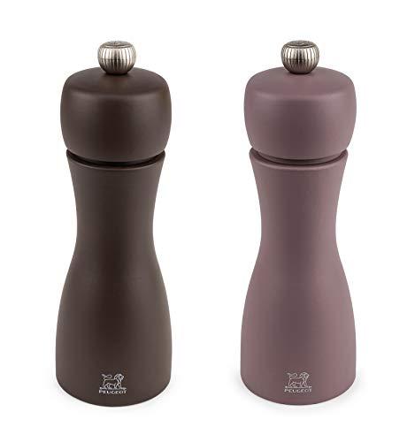 Peugeot Tahiti DUO Winter Salt and Pepper Mills Set 15cm - 6'. 2 Shades of Chestnut Brown