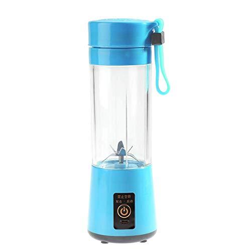 Batido Batidie, 350-400ml USB Recargable Portátil Portátil Sirva Blender Juicer Copa Máquina de Mezcla de Frutas (Azul) kshu