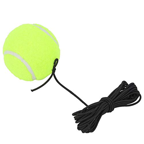 Tennisbal - Voor Tennisbeginner - Trainingsbal Met 4M Elastisch Rubberen Koord - Tennistrainersbal - Voor Tennis Met Één Training - Geweldig Leermiddel - Voor Binnen En Buiten