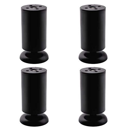 ZHOUMEI eenvoudige meubels van roestvrij staal verstelbare onderkast salontafel sofa voet dragermat (4-pack)