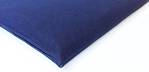 eConsumersUSA Luxurious Comfort Pet Dog Bed External Cover for Small and Large Dogs - COVER ONLY (36'x29' (34'x27'x3'), Denim - Blue)