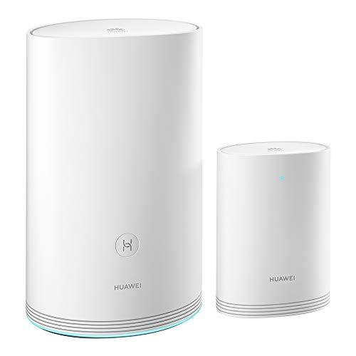 HUAWEI Wi-Fi Q2 Pro (1 Base + 1 Satélite) - Sistema de Wi-Fi en casa, Gigabit Powerline, Puertos GE completos, Roaming sin interrupciones, optimización de Wi-Fi de 5 GHz, Baja latencia, Plug & Play