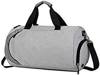 runze Polyester Duffle Bag For Unisex,Grey - Travel Duffle Bags