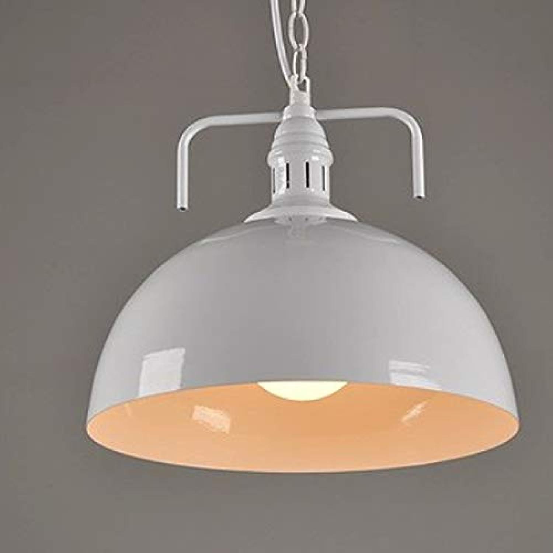 Retro wei Pendelleuchte Rund Design Vintage Küche Lampe Hngeleuchte E27 Eisen Hngelampe Rustikal Wohnzimmer Esszimmer Arbeitszimmer Beleuchtung Restaurant Leuchte Deckenleuchte 30cm