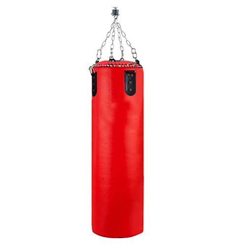 Aoneky Professional Water Punching Bag - 4ft / 5ft 150 Pound Unfilled Heavy Bag with Chain - Hanging Boxing Bag for MMA Muay Thai Workout Training (Red, 5ft)