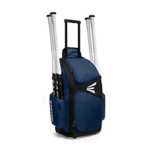 Easton Travelers Baseballtasche mit Rollen, Herren, Travleler Stand Up Baseball Wheeled Bag, Navy, 24.5