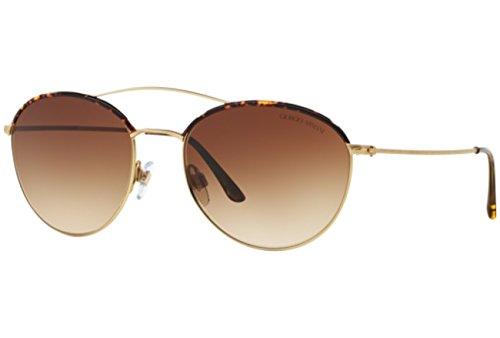 Armani Giorgio 0AR6032J 300213 55 Gafas de sol, Dorado (Matte Gold/Brown), Mujer