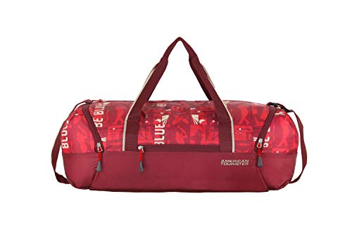 American Tourister Play4blue Polyester 55 cms Red Gym Bag (FR4 (0) 00 101)