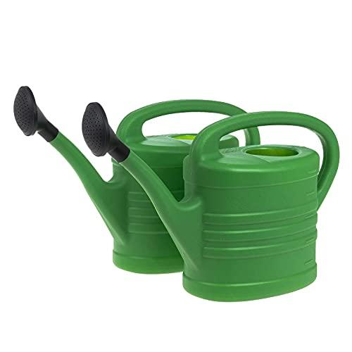 SIDCO Gießkanne 2 x Blumengießer 5L mit Brause Kunststoffkanne Kannen Set Gartenkanne
