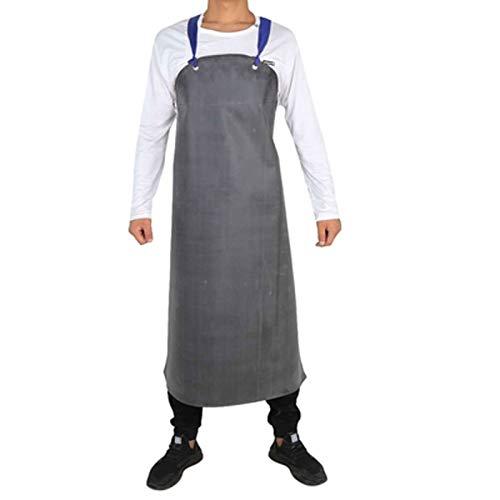 CFCF Herren Gummi Wasserdicht Ölresistenz Schlachthaus Arbeitsschürze Industrielle Schürze, Küche Schürze Set Paar Schürzen,Gummischürze Fleischerschürze Arbeitsschürze 120X95Cm