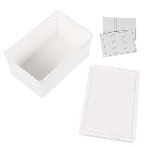 Cabilock 2 Piezas de Plástico Caja de Almacenamiento Blanco Juguete Diversos Organizador...