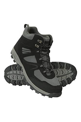Mountain Warehouse McLeod Cargadores de los Hombres de McLeod - Breathable Que iba de excursión los Cargadores, Zapatos Que caminaban de la guarnición del Acoplamiento Negro 41