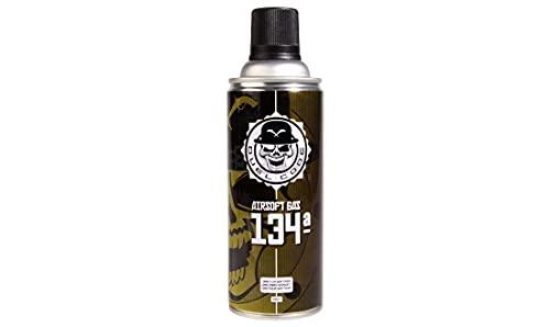 Botella Green Gas Airsoft 134ª 400 ml Duel Code, Gas Flojo para Pistolas japonesas, con corredera de plástico y Tokyo Marui. Gas de Verano