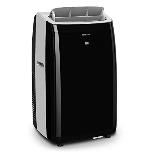 KLARSTEIN Grandbreeze Pro 14K - Climatiseur Mobile, déshumidificateur, Ventilateur, 3 Vitesses, 14000 BTU/1,65 KW, pièces: 42 à 68 m², débit: 460 m³/h, CEE A - Noir