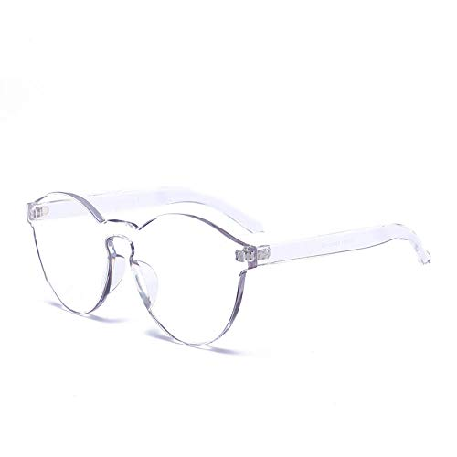 ZZZXX Gafas De Sol Mujer BaratasGafas Transparentes Sin Montura Color Caramelo Polarizadas Uv400 Protección Para Conducir Pesca Al Aire Libre Marco De Acetato,Con Caja De Regalo Y Paño Para Vasos