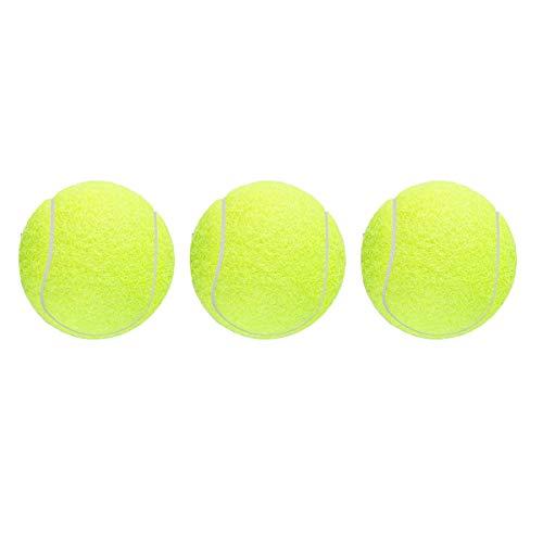 JieGuanG Pelotas de tenis 3 piezas de entrenamiento deportivo de cricket para perros, juguete para lecciones, práctica, lanzar máquinas y jugar con mascotas