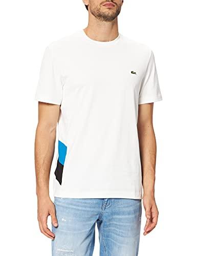 Lacoste TH7407 Tee-Shirt, Farine/Ultramarine-Noir, M Homme