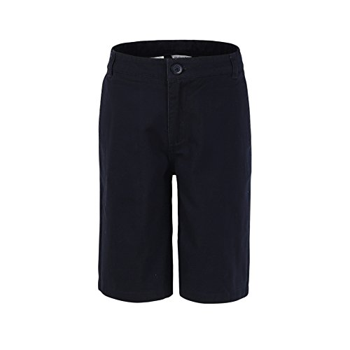 Bienzoe Niño Uniformes Escolares Algodón Bermudas Pantalones Cortos Marina 12
