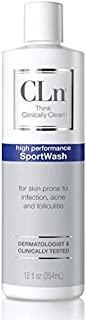 CLn SportWash - Sport Body Wash for Skin Prone to Sport Infections, Rashes, and Ingrown Hairs (12 fl oz)