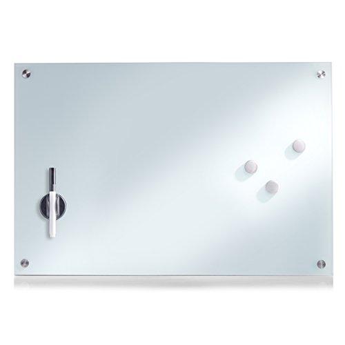 Zeller 11660 Memobord, Glas, weiß, ca. 60 x 40 x 2 cm