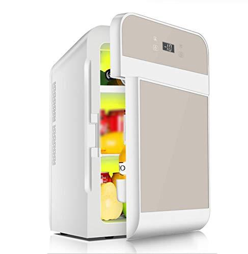 FENG 2in1 Mini Kühlschrank 20 Liter Edelstahl   mit Kühl- und Heizfunktion  Steckdose und am Zigarettenanzünder   12 Volt und 230 Volt   Kabel Auto   Warmhaltebox   Mini-Thermobox
