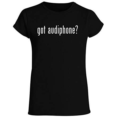 got audiphone? - Women's Crewneck Short Sleeve T-Shirt, Black, XX-Large