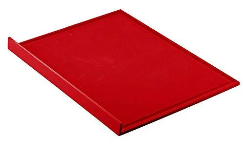 Guzzini . Tagliere Cucina Non Slip Chop Silicone Rosso Antiscivolo 30 x 23 cm