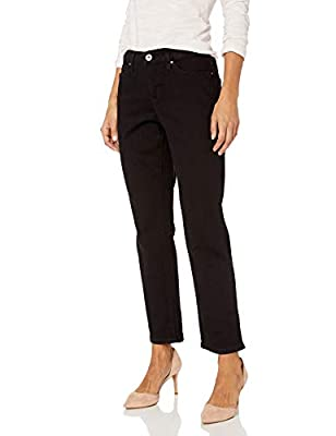 Bandolino Women's Petite Mandie Signature Fit 5 Pocket Jean, Saturated Black, 10P Short