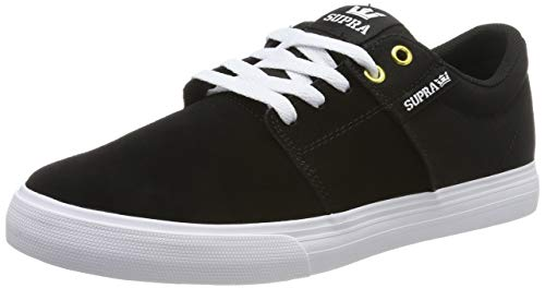 Supra Herren Stacks Vulc II Sneaker, Schwarz (Black/Black-White 044), 42 EU