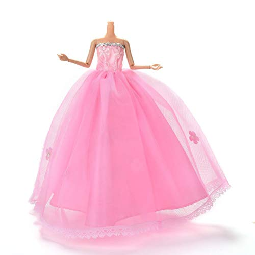 Art und Weise handgemachte Partei-Kleid-Brautkleider Kleider for Barbie-Puppen for Mädchen Geburtstags-Geschenk lsmaa