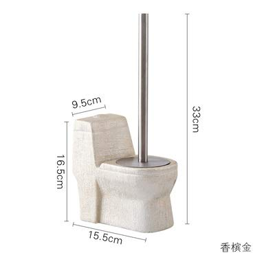 No-Branded Bathroom Accessory Vintage Creative Shape Ceramic Toilet Brush Set Bathroom Accessories Cleaning Brush Kit Bathroom Accessories Set YUXUJ (Color : 5, Size : Free)