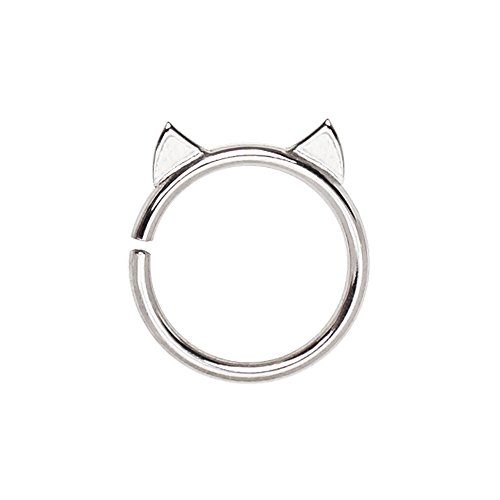(AZULA) Jewellery For Cartilage and Tragus, Upper Earring Cute Cat Bendy 12mm x 10mm Conch Stud