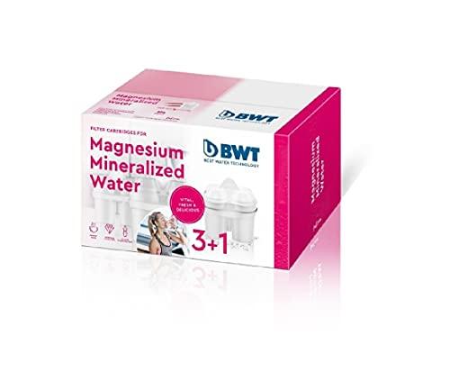 BWT L0814334 Magnesium Gourmet 3+1 Filterkartuschen, Kompatibel Brita Maxtra sauf Perfect Fit