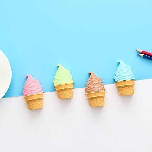 Bureze creatieve briefpapier ijs Cone potlood slijper dubbele gat potlood slijper mes voor studenten gift