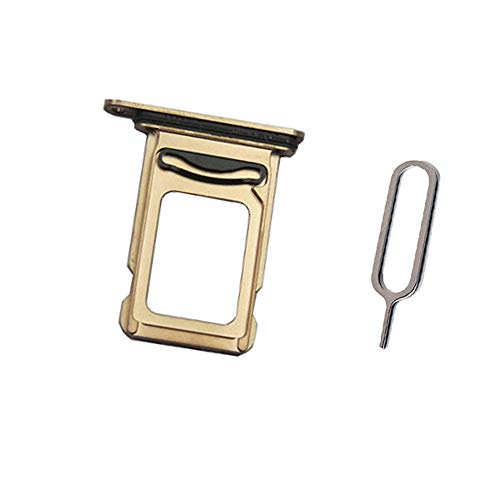 Draxlgon Dual SIM Card Tray Slot Holder Adapter for iPhone Xs MAX 6.5' Gold Dual SIM