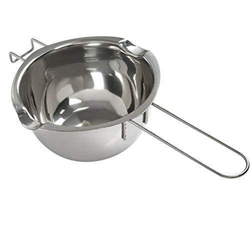 Schmelztopf Edelstahl, YANSHON 600ml Doppel-Boiler, silber Wasserbad-Schmelzschale, Schmelztiegel für Butter, MetallKerzen-Herstellung, Küchenhelfer
