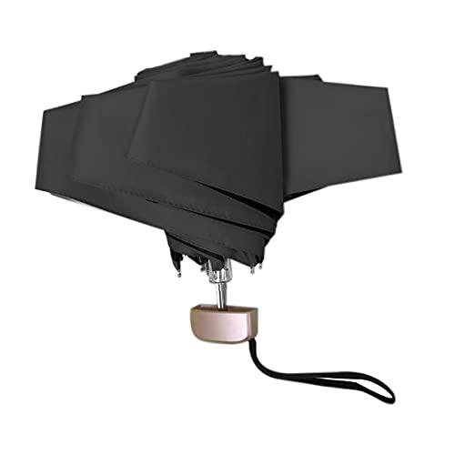 Deesen Sombrilla para Mujer Protector Solar y ProteccióN UV Paraguas de Doble Uso Compacto PortáTil Plegable CáPsula, Negro