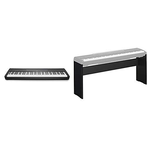 Yamaha Digital Piano P-45B, schwarz – Elektronisches Klavier für Einsteiger für authentisches Klavierspielen & L-85A Digital Piano-Ständer, schwarz – Stabiler Ständer in modernem Design